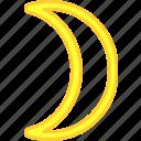 luna, planet, simbol, tarot icon