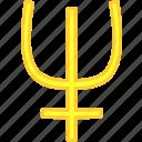 neptunus, simbol, solar, universe icon