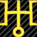 natal, planet, simbol, uranus icon