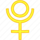 pluto, simbol, solar, universe icon