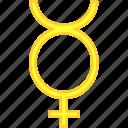 mercurius, simbol, solar, universe icon