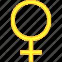 natal, planet, simbol, venus icon