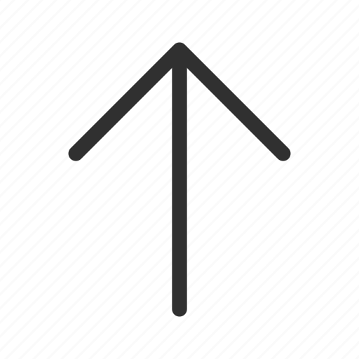 above, arrow, medium arrow, medium rounded line arrow, up, upload icon