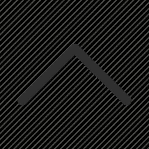 above, arrow, medium stroke, rounded medium line arrow, up, upload icon