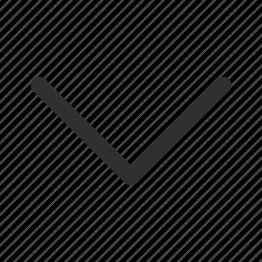arrow, below, down, download, medium stroke, rounded medium line arrow icon