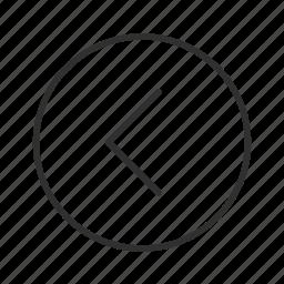 arrow, back, left, left circle arrow, previous, return, thin stroke icon