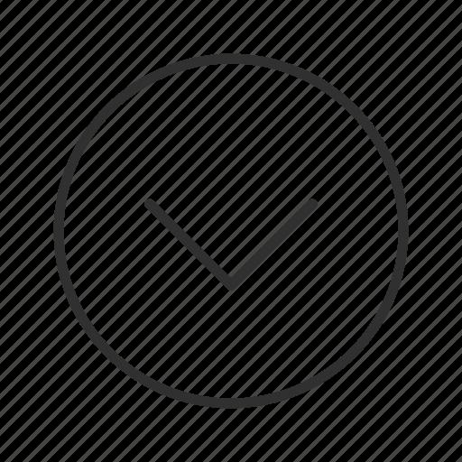 arrow, below, down, down circle arrow, download, thin stroke icon