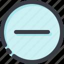 cancel, close, delete, min, minus, remove, stop icon