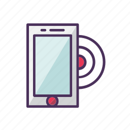 call, contact, mobile, phone, ring, smartphone, vibration icon