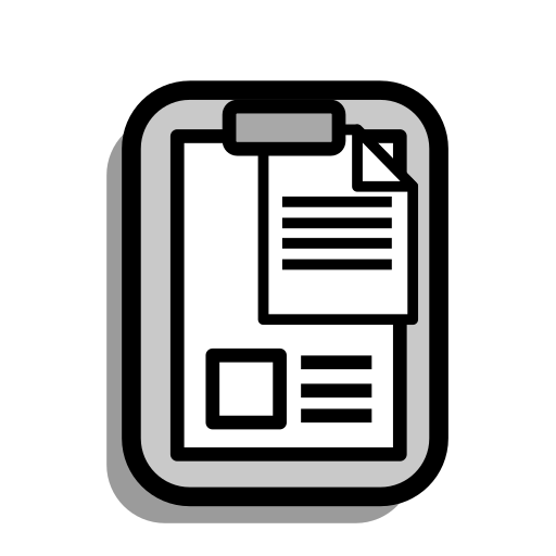 business, clapboard, clipboard, document, office, paper, report icon