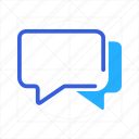 bubble, chat, conversation, mail, message, speech, text icon