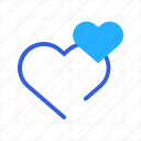 add, bookmark, favorite, heart, like, plus, romantic icon