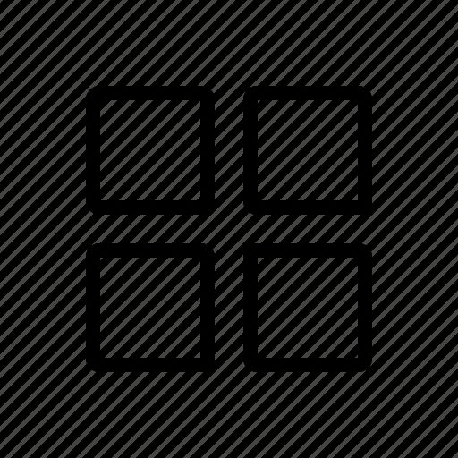 apps, grid, list, menu, option icon
