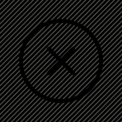 cancel, close, delete, exit, remove icon