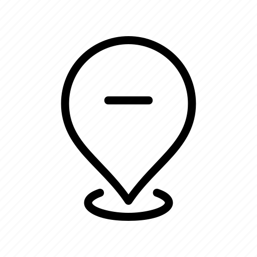 gps, location, map, pin, remove icon