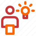 brain, creative, good, idea, think icon
