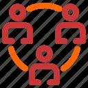 circle, connection, make, social, network
