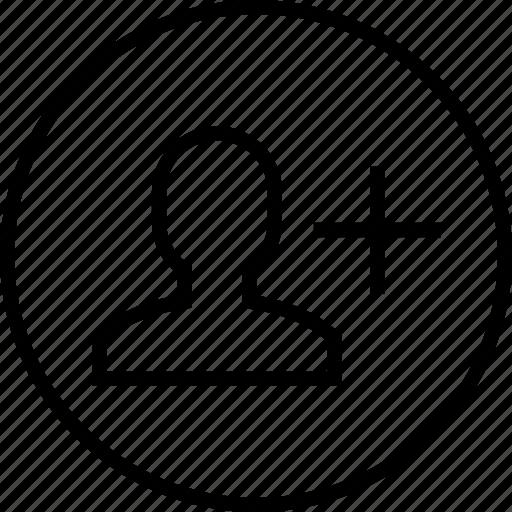 add, contact, create, new, profile, user icon