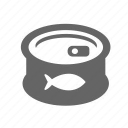 canned, fish, food, jar, sea, tin, tinned icon