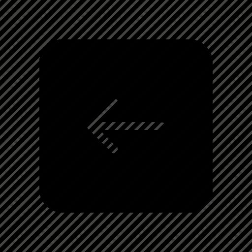 arrow, copy, direction, left, square icon