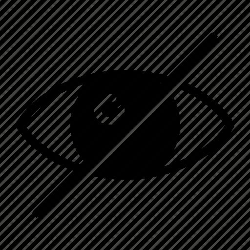 block, eye, hide, show, view icon