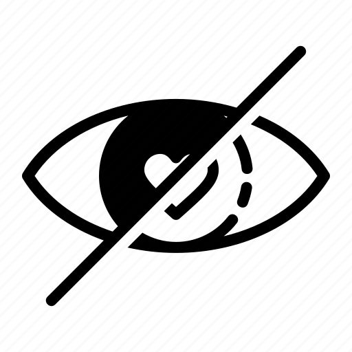 block, eye, like, show, view icon