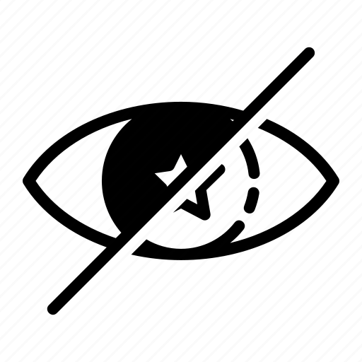 block, eye, hide, star, view icon