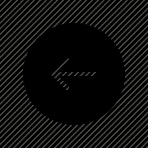 arrow, circle, copy, direction, left icon