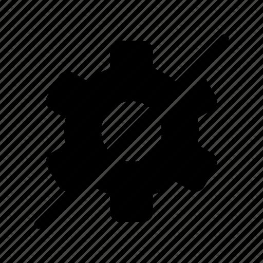 block, gear, settings, setup icon