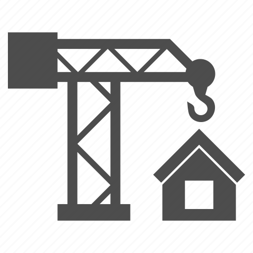 building, building crane, business, construction, development, industry, project icon