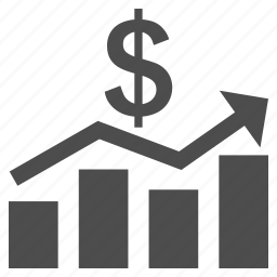 business chart, dollar, finance, graph, money report, reports, sales icon