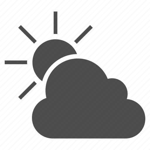 cloud, clouds, cloudy, forecast, predict, sun, weather prediction icon