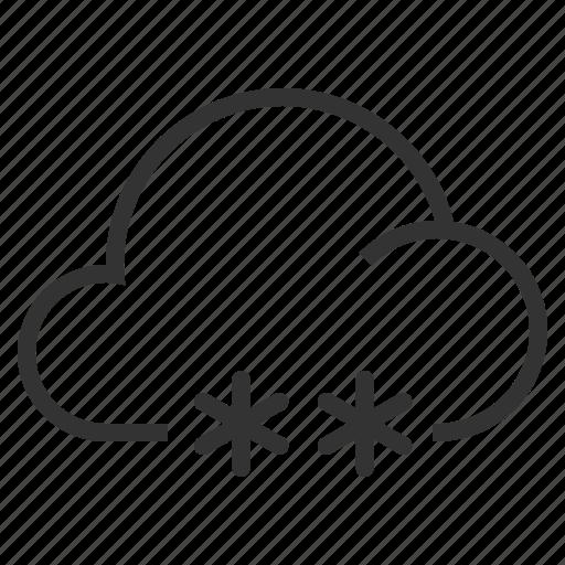 cloud, clouds, rain, snow, weather, winter icon