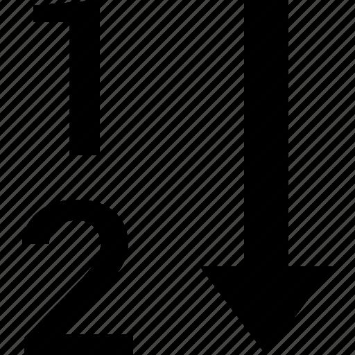 list, sort icon