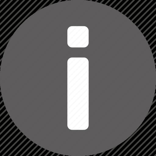 alert, help, info, information icon