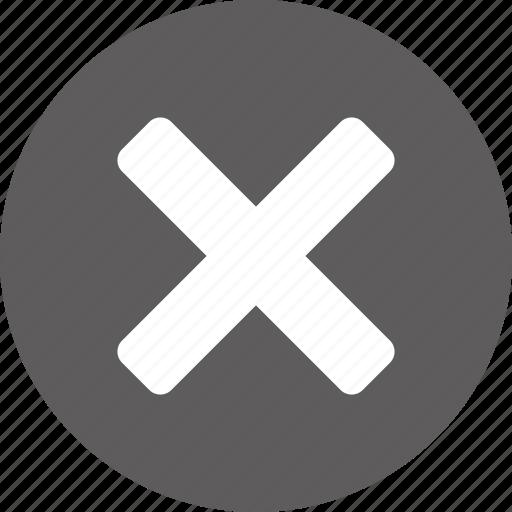 cancel, clear, close, cross, empty, invalid, remove icon