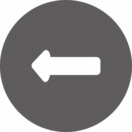 arrow, back, left, navigation, page, previous, return icon