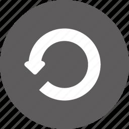 back, refresh, return, undo icon
