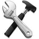 settings, options, hammer, screwdriver, build, code, tools