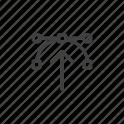 arrow, creative, design, draw, lines, process, strokes icon