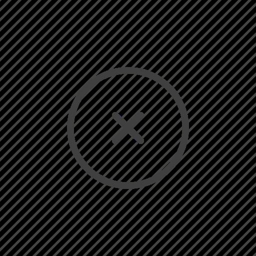 cancel, close, cross, delete, disable, dismiss, remove icon