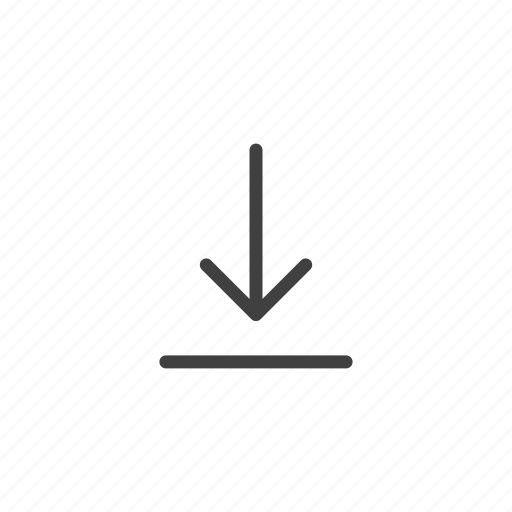 arrow, direction, down, download, save, save as icon