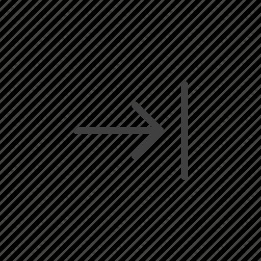 arrow, continue, direction, forward, next, right icon