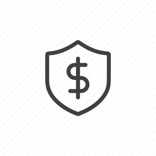 dollar, finance, money, protect, safe, secure, shield icon