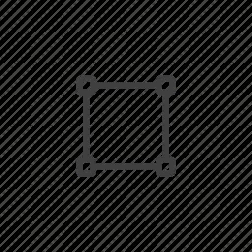 design, lines, process, shape, square, strokes icon