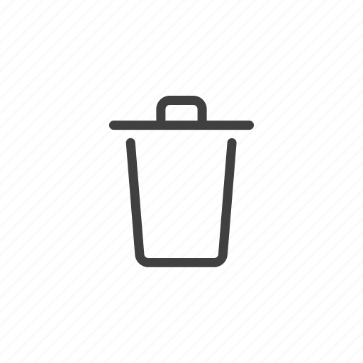 bin, can, delete, garbage, remove, trash, trash can icon