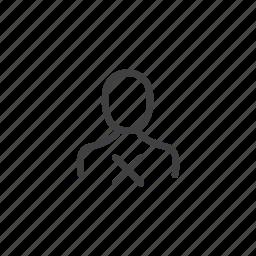 account, avatar, cancel, delete, dismiss, remove, user icon
