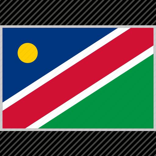 country, flag, namibia, nation icon