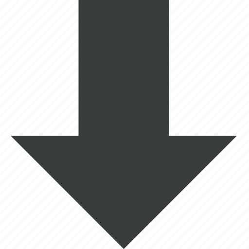 arrow, direction, down, download, transit icon