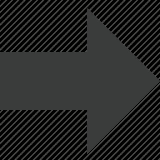 arrow, direction, forward, next, right, transit icon